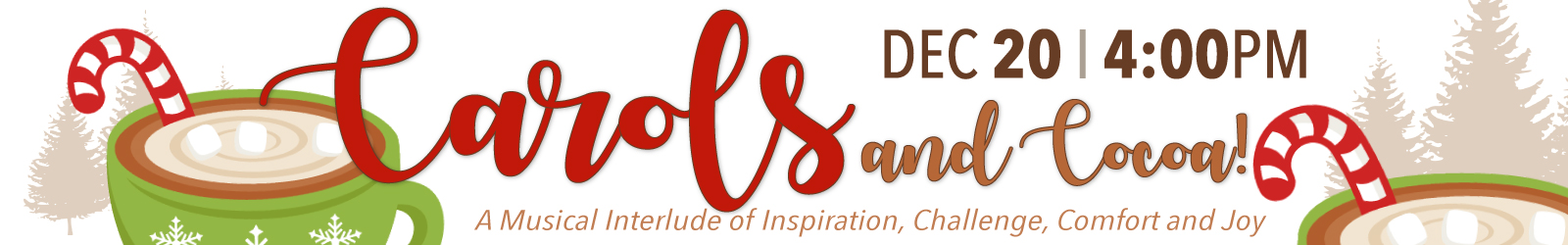 Facebook Event Page for Carols and Cocoa a musical interlude of inspiration